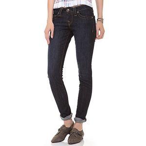 True Religion Dark Wash Shannon Skinny Jeans
